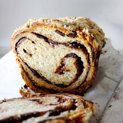 Chocolate Swirled Coffee Cake Bread