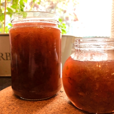 Rhubarb Jam with Edinburgh Gin Elderflower Liquor