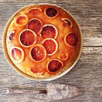 Blood Orange and Honey Upside-Down Cake