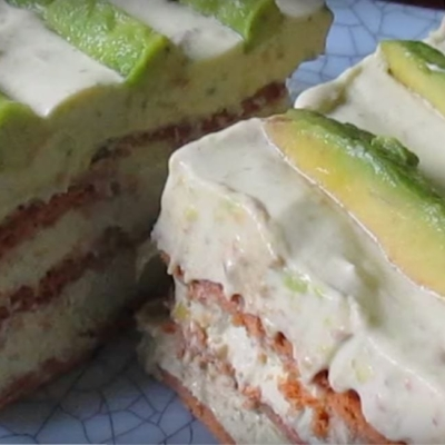 Creamy Avocado Ice Box Cake