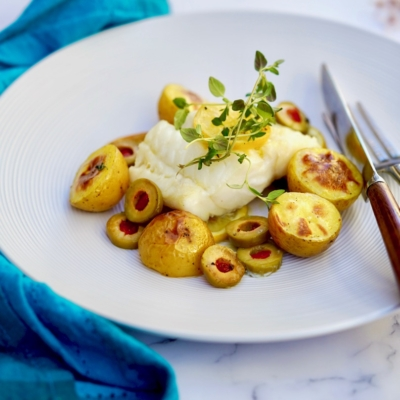 Oven Roasted Cod With Lemon And Green Olives