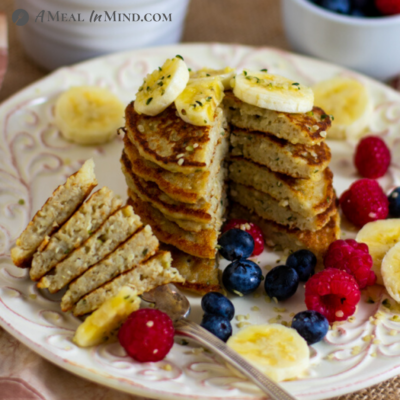 Oat-Hemp Protein Pancakes Gluten-Free