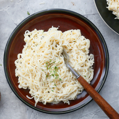 5 Ingredient Ramen Alfredo