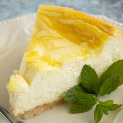 Lemon Swirl Cheesecake
