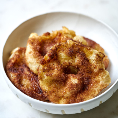 Fried Apples with Cinnamon Sugar
