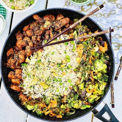 Teriyaki Chicken, Egg Fried Rice with Vegetables