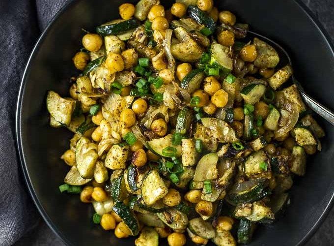 Warm Curried Chickpea Salad