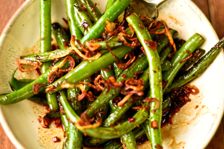 Stir Fried Green Beans with Crispy