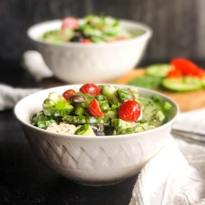 Greek Inspired Cucumber Salad