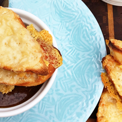 French Onion Soup with Homemade Fullblood Wagyu Beef Stock