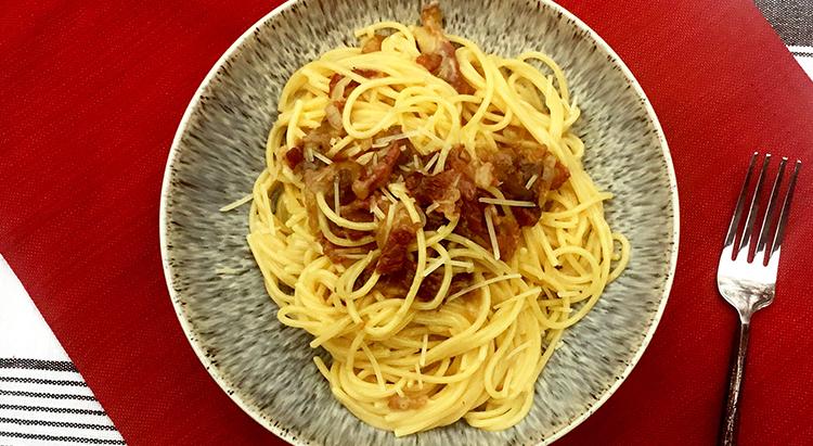 Italian Fullblood Wagyu Beef Bacon Carbonara
