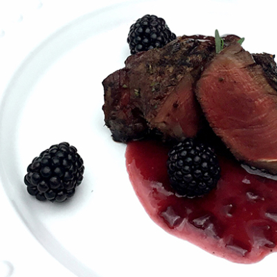 Grilled Wagyu Beef Filet Mignon With Blackberry Wine Butter Sauce