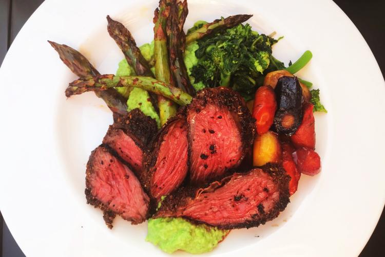 Coriander & Cumin Crusted Wagyu Hanger Steak