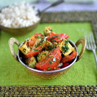 Indian-Style Vegetable and Paneer Stir Fry