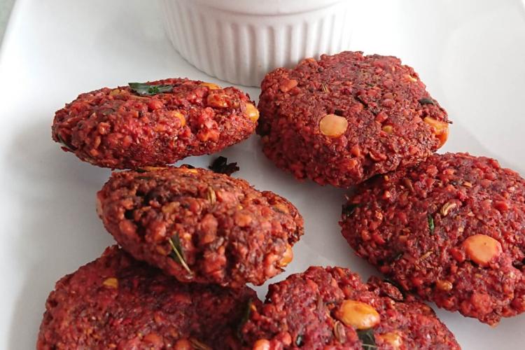 Beetroot Masala Vada Recipe | Easy Beet Lentil Fritters