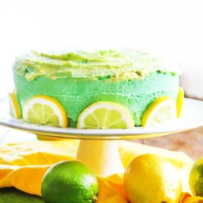 Lemon Cake with Lemon Lime Buttercream Frosting