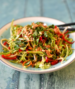 Summer Slaw with Pad Thai Dressing