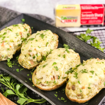 Air Fryer Twice-Baked Loaded Potatoes