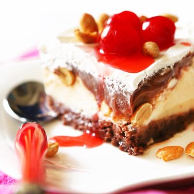 Buster Bar Ice Cream Cake