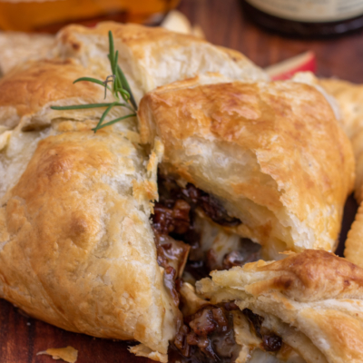 Puff Pastry Baked Brie with Fig Jam