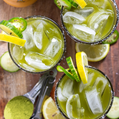 Matcha Jalepeno Margaritas