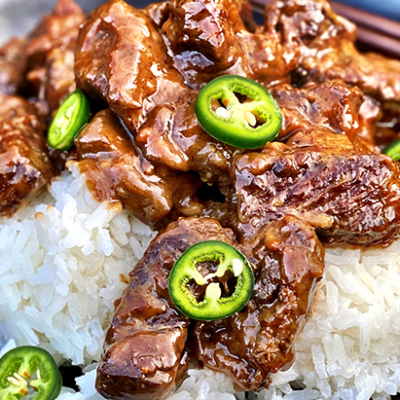 Fullblood Wagyu Beef Adobo with Coconut Rice