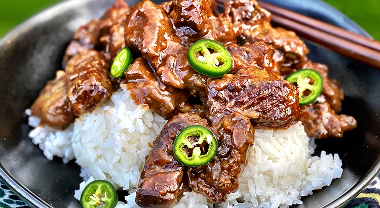 Fullblood Wagyu Beef Adobo with Coconut Rice