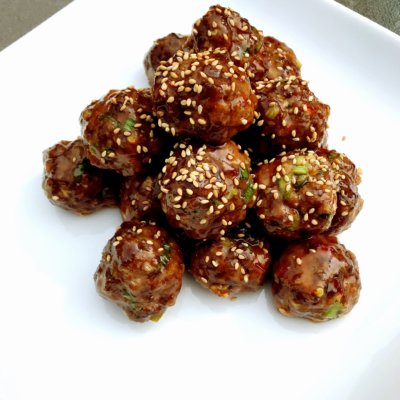 Sweet & Spicy Wagyu Beef Korean Meatballs