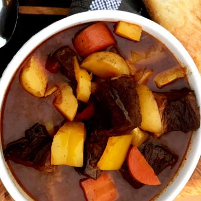 Hungarian Goulash with Wagyu Bottom Round Roast
