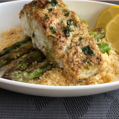 Yummy Almond Crusted Lemon Halibut