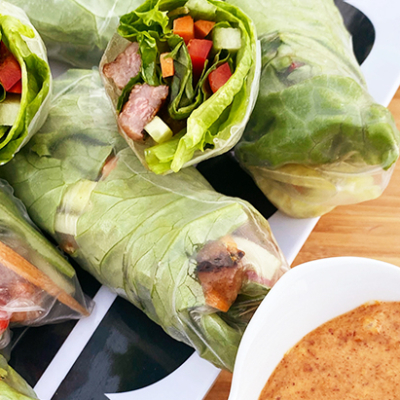 Vietnamese Salad Rolls with Grilled Miyazakigyu Wagyu Beef