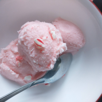 Homemade Dairy Free Peppermint Ice cream