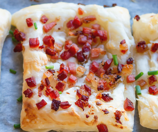 Cream Cheese Bacon Puff Pastry Appetizer