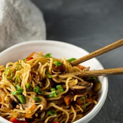 Pork Belly Yakisoba Noodles