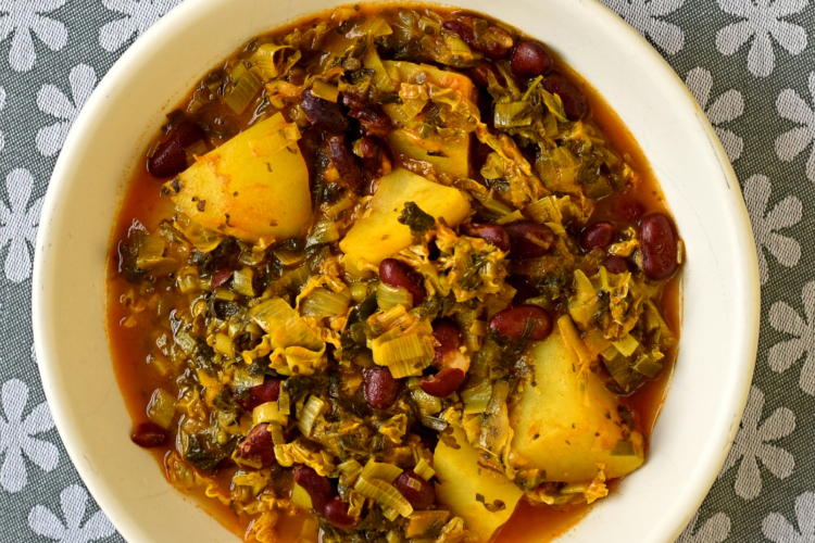 Persian-Style Bean and Herb Stew