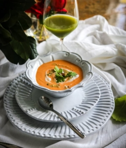 Vegan Curried Cauliflower Soup