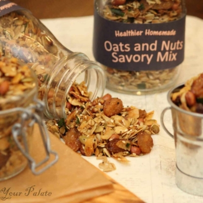Homemade Trail Mix Recipe – Oven Roasted Oats and Nuts