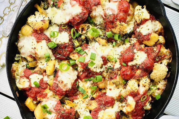 Cauliflower Bake with Gnocchi and Mozzarella