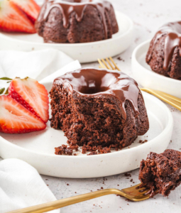 Chocolate Mini Bundt Cakes with Chocolate Ganache