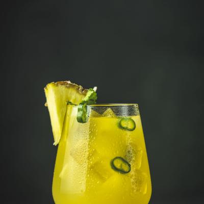 Spicy Pineapple Jalapeno Margarita