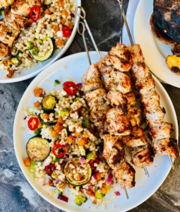 Easy BBQ Chicken Kebabs