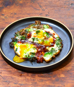 Fried Eggs with a Ton of Herbs