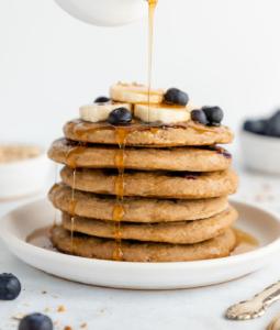 Blueberry Banana Pancakes (Vegan & Gluten-Free)