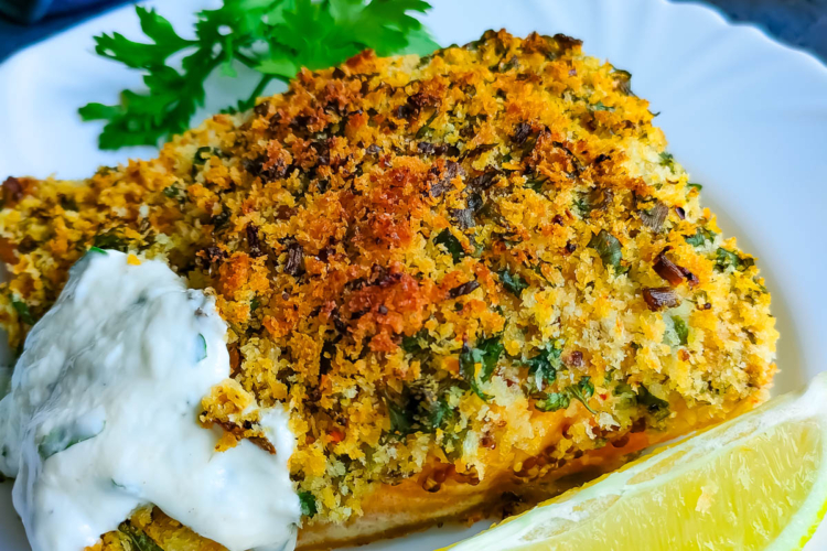 Oven Baked Panko Crusted Fish