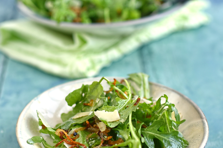 Rocket, Crispy Shallot and Parmesan Salad