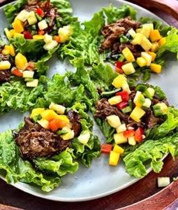 Caribbean Wagyu Beef Lettuce Wraps