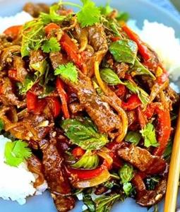Thai Basil Wagyu Beef Stir Fry