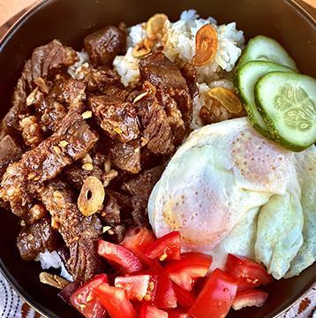 Filipino Wagyu Beef Tapa with Garlic Fried Rice