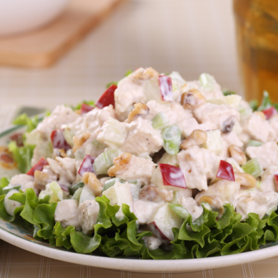 Iconic Chicken Salad Recipe With Fresh Fruit and Walnuts