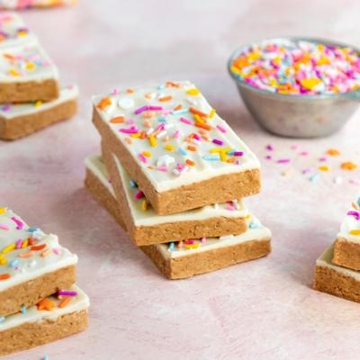 Birthday Cake Protein Bars